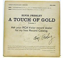 Elvis Presley A Touch Of Gold  EP back cover,signature Photographic Print