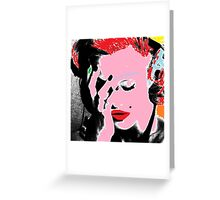 Madonna Pop Art Greeting Card