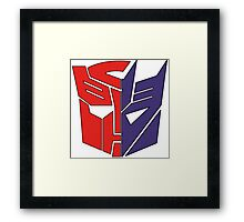 Transformers Autobot/Decepticon Framed Print