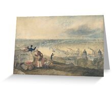Joseph Mallord William Turner Paintings, View of London from Greenwich,  Greeting Card
