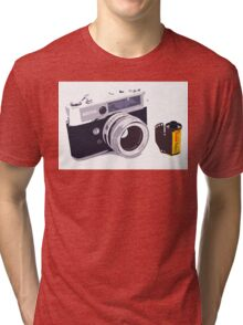 Film camera Tri-blend T-Shirt
