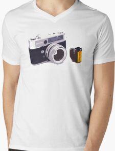 Film camera Mens V-Neck T-Shirt