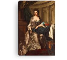 MIKAEL DAHL, QUEEN ANNE OG ENGLAND REPRESENTED AS ATHENA. Canvas Print