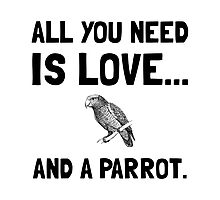 Love And A Parrot Photographic Print
