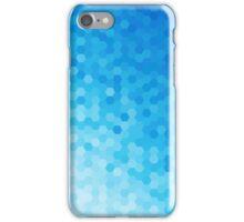 Blue Tones Hexagonal Pattern iPhone Case/Skin