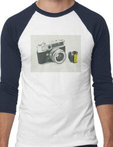 Retro photography Men's Baseball ¾ T-Shirt