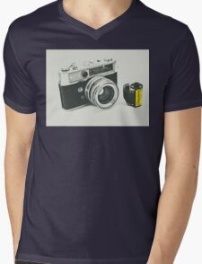 Retro photography Mens V-Neck T-Shirt
