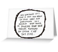 Ten Ton Brick Greeting Card