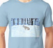 An Arctic Wolf's Winter Blues  Unisex T-Shirt