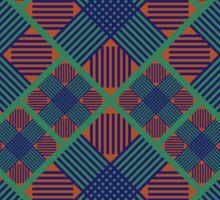 Seamless geometric pattern. Tartan geometric ornament. Sticker