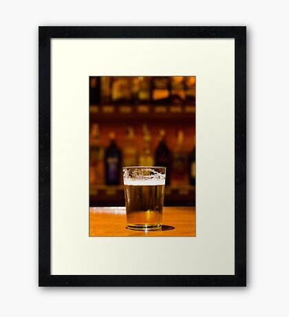 A drink with friends Framed Print