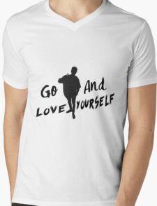 GO & Love Yourself. Mens V-Neck T-Shirt