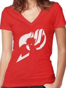 Fairy tail Natsu Women's Fitted V-Neck T-Shirt