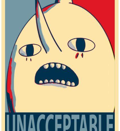 Unacceptable Lemongrab Sticker