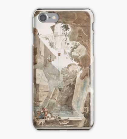 LOUIS JEAN DESPREZ, VUE D'UNE CITERNE ANTIQUE iPhone Case/Skin