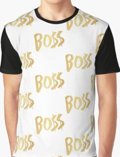 BO$$ - Gold Graphic T-Shirt
