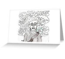 Leslie Hall Fan Merch Greeting Card