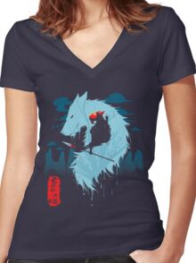 Hime Women's Fitted V-Neck T-Shirt