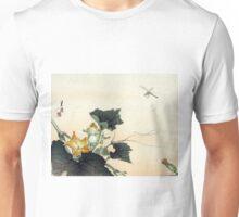 Dragonfly And Pumpkin - Gekko Ogata - 1890 - woodcut Unisex T-Shirt