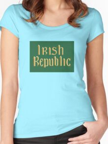 Irish Republic flag flown during the Easter Rising 1916 Women's Fitted Scoop T-Shirt