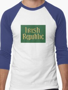 Irish Republic flag flown during the Easter Rising 1916 Men's Baseball ¾ T-Shirt