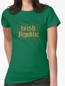 Irish Republic flag flown during the Easter Rising 1916 Womens Fitted T-Shirt