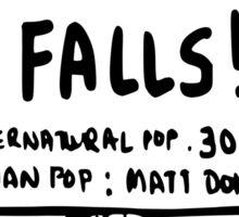 The vampire diaries-Mystic Falls Sticker