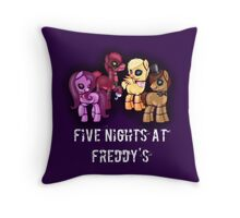 My little pony Five Nights at Freddy's Throw Pillow