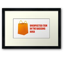 Unexpected Item In The Bagging Area - Self Service Checkout Framed Print