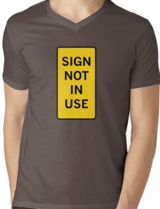 Sign not in use Mens V-Neck T-Shirt