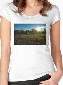 Golden Dew Autumn Sunrise Women's Fitted Scoop T-Shirt