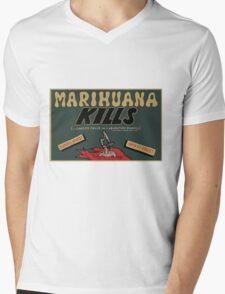Marihuana Kills (Cancer) Mens V-Neck T-Shirt