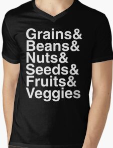 Grains & Beans & Nuts & Seeds & Fruits & Veggies Mens V-Neck T-Shirt