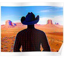 Wandering Wild West Cowboy Poster