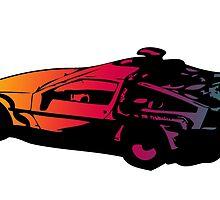 Back to the future Delorean by hinomaru17