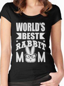 World's best rabbit mom Women's Fitted Scoop T-Shirt