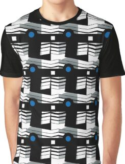 That's Enough Geometric Repeating Surface Pattern by Jenny Meehan Graphic T-Shirt