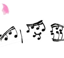 Music notes and Cherry Blossom Sticker