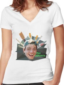 Mac Demarco Polygons Women's Fitted V-Neck T-Shirt