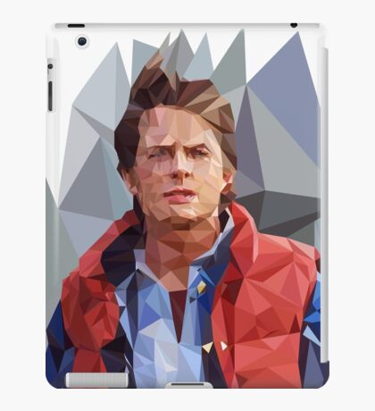 Marty McFly Polygons iPad Case/Skin