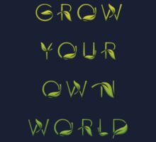 Grow Your Own World Gardening T Shirt One Piece - Long Sleeve