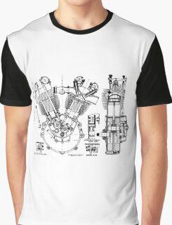 JAP V-Twin Engine  Graphic T-Shirt