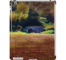 Watercolor Barn Southwest Wisconsin iPad Case/Skin