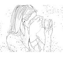 Camera Girl Photographic Print