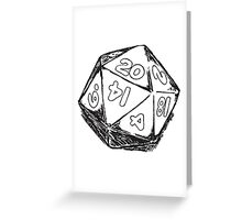 D20 Dice Greeting Card