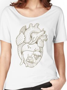 Vintage Tattoo - Cat Heart Women's Relaxed Fit T-Shirt