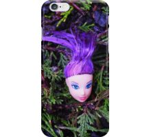 Purple Haired Decapitated Doll  iPhone Case/Skin