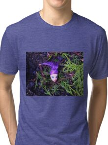 Purple Haired Decapitated Doll  Tri-blend T-Shirt