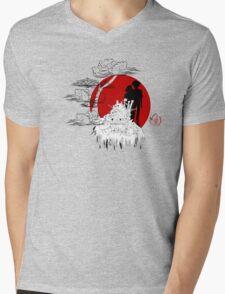 Janapese Castle Mens V-Neck T-Shirt