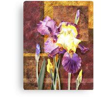 Iris Flower Decorative Artwork Canvas Print
